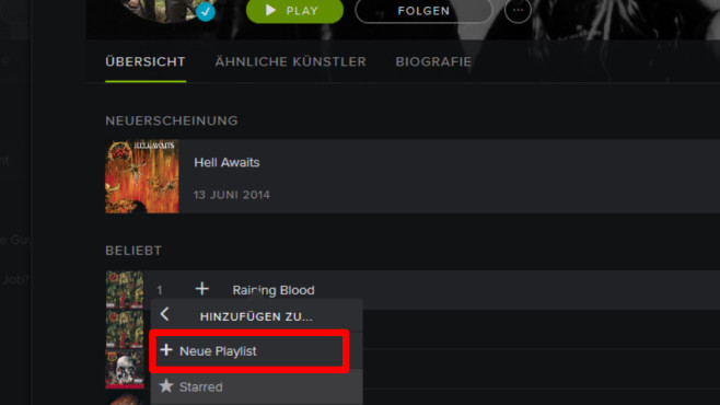 Spotify Web Player: Musik-Stream ohne Software (Browser) © Spotify