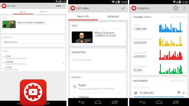YouTube Creator Studio ©Google, Inc.