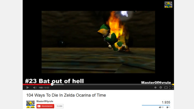 104 Todesarten in Zelda Ocarina of Time © YouTube-Nutzer: Master0fHyrule
