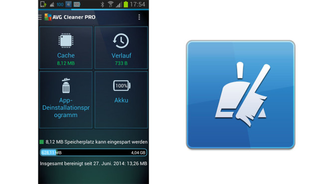 AVG Cleaner Pro im App-Test © AVG