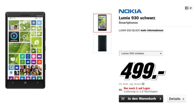 Nokia Lumia 930 ©Media Markt