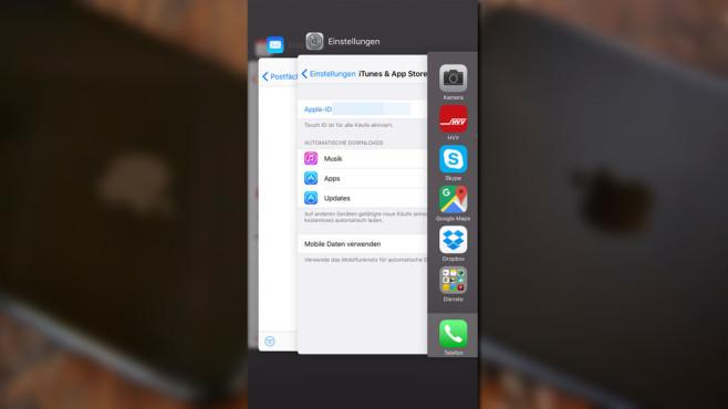 iPhone: Apps beenden ©COMPUTER BILD