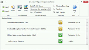 Screenshot Microsoft EMET 5 ©Microsoft