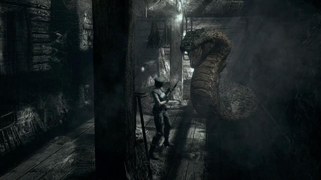 Resident Evil: HD-Neuauflage im Test Bosse wie diese mutierte Riesenschlange schlucken einiges an Munition. ©Capcom