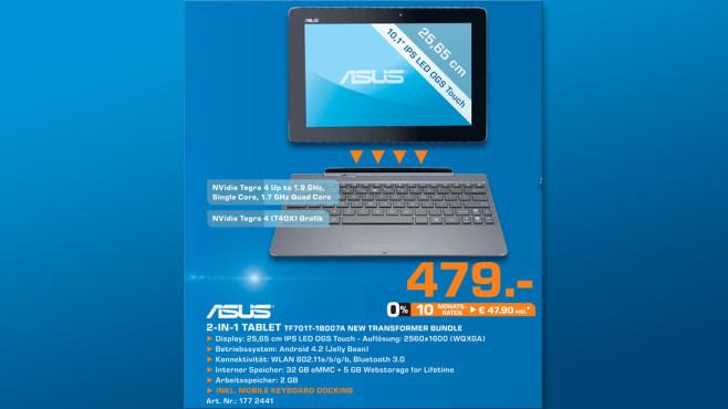 Asus Transformer Pad TF701T 32GB inklusive Tastatur ©Saturn