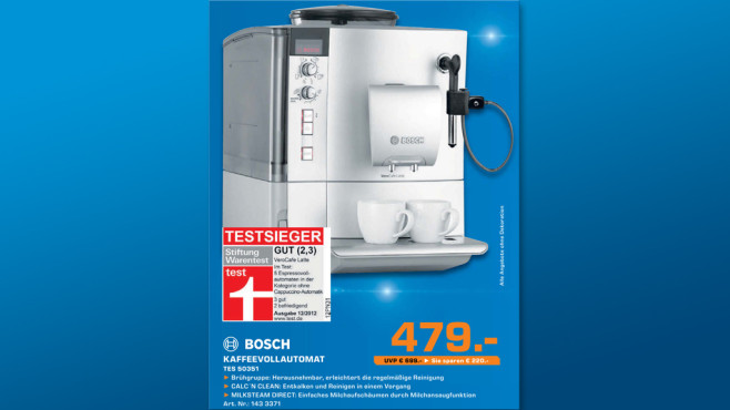 Bosch TES 50351 DE VeroCafe Latte ©Saturn