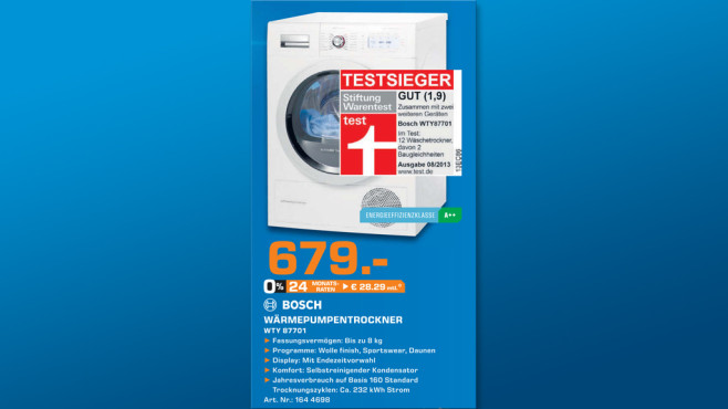 Bosch WTY87701 ©Saturn
