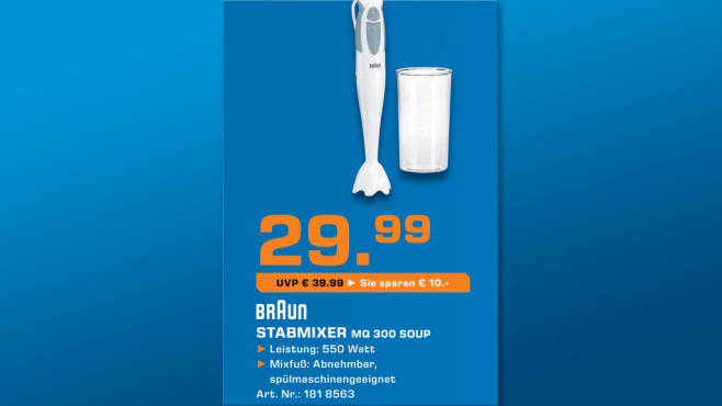 Braun Multiquick 3 MQ 300 Soup © Saturn
