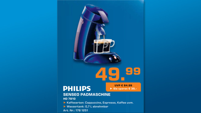 Philips Senseo HD 7810 © Saturn