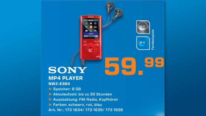 Sony NWZ-E 384 L ©Saturn