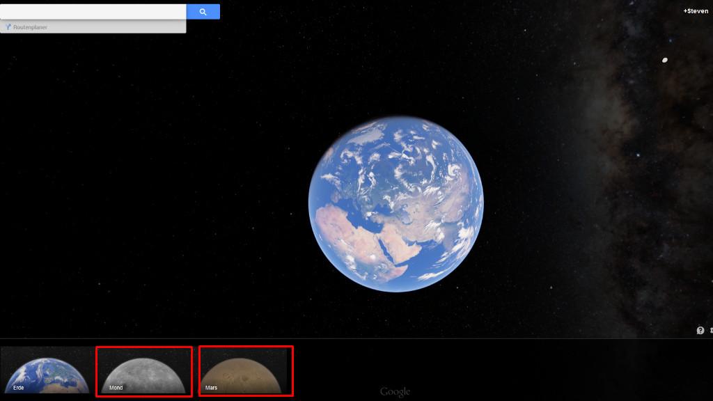 der mond und andere planeten