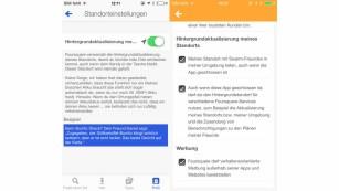 Einstellungen bei Foursquare und Swarm ©App-Screenshot: Foursquare/Swarm