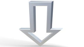 ©Fotolia---juergen modis--3D-Symbol - Pfeil unten