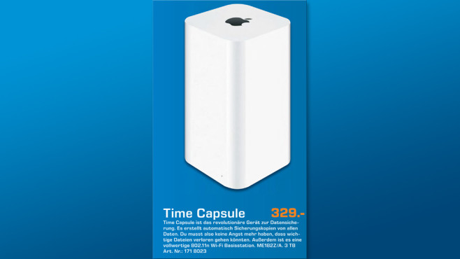 Apple AirPort Time Capsule 3TB © Saturn