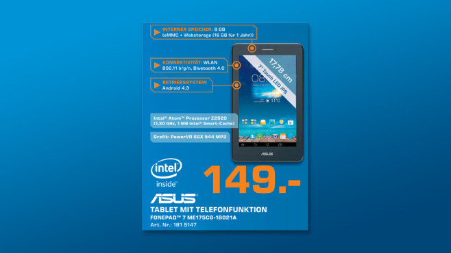 Asus Fonepad 7 8GB © Saturn