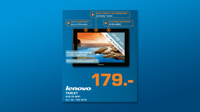 Lenovo IdeaTab A7600 © Saturn