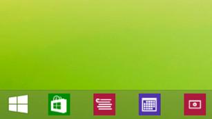 Windows 8: So starten Sie Apps vom Desktop aus Einmal an die Taskleiste angebracht, öffnen Sie Apps in Sekundenschnelle. ©COMPUTER BILD