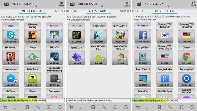 Android: Apps auf SD-Karte verschieben ©COMPUTER BILD. Sam Lu