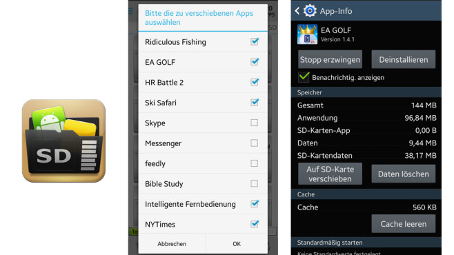 Android: Apps auf SD-Karte verschieben ©COMPUTER BILD, Sam Lu