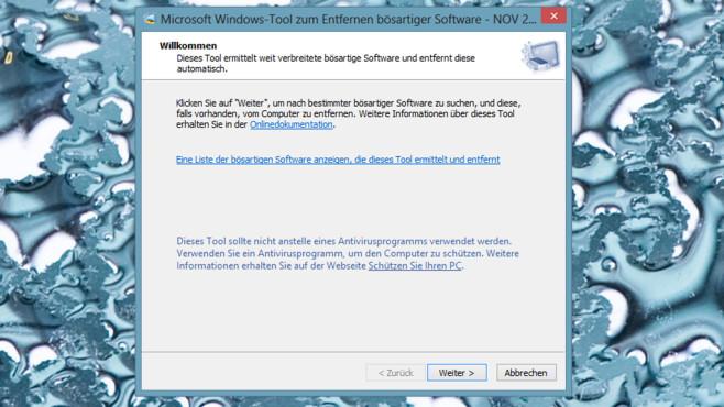 Microsoft Windows-Tool zum Entfernen bösartiger Software ©COMPUTER BILD