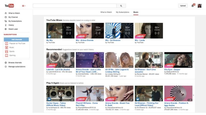 Screenshot YouTube Music Key © Google