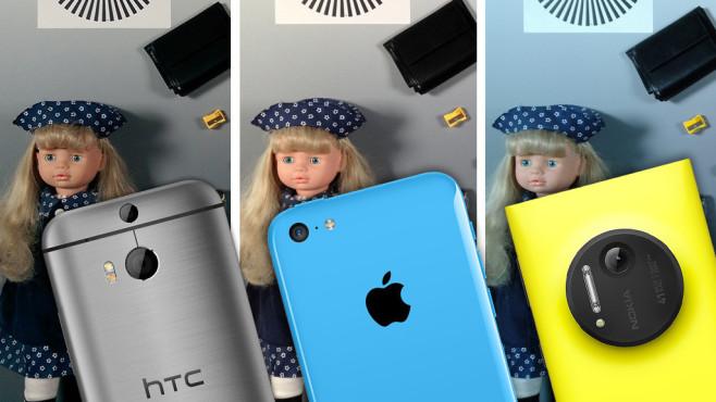 Kamera-Handy-Test: Die besten Foto-Smartphones im Vergleich ©Apple, HTC, Nokia