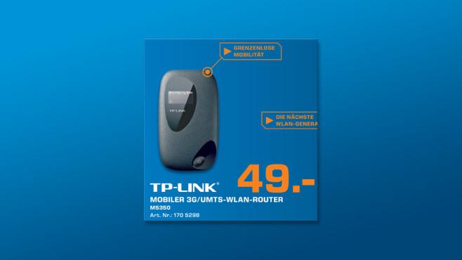 TP-LINK Mobiler 3G WLAN Router ©Saturn