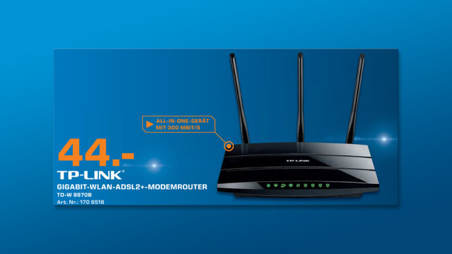TP-LINK WLAN N300 Gigabit Modemrouter ©Saturn