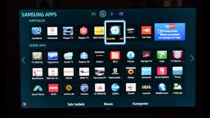 Samsung HU7590 Apps ©COMPUTER BILD
