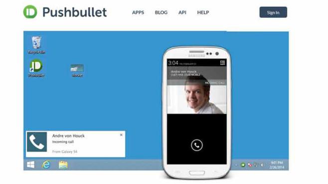 Pushbullet-App zur Vernetzung von PC und Smartphone ©pushbullet.com