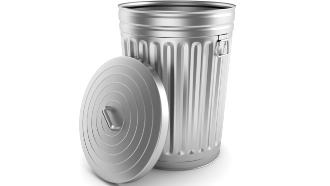 Windows 7 und 8: Verschwundenen Papierkorb wiederherstellen © Fotolia---madgooch---Open steel trash can