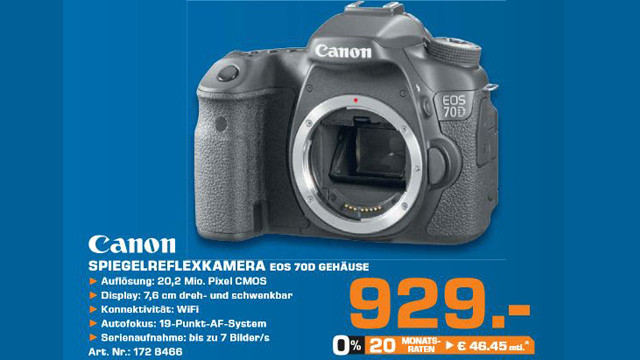 Canon EOS 70D Body ©Saturn