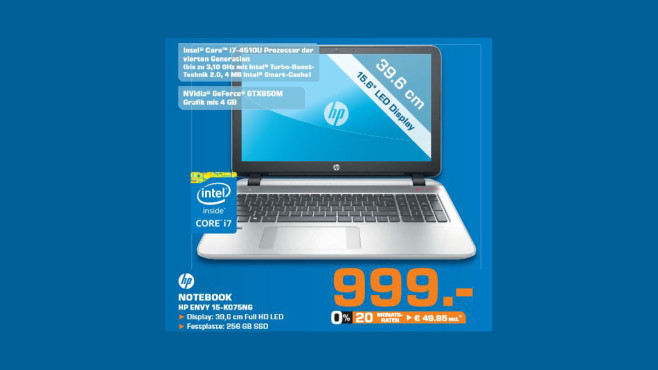 Hewlett-Packard HP Envy 15-k075ng © Saturn