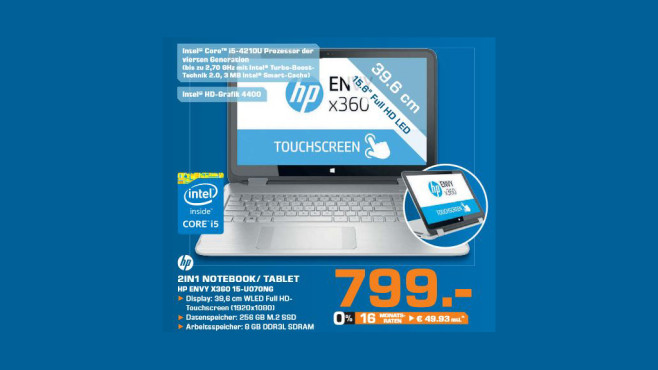 Hewlett-Packerd HP Envy X360 15-U070NG © Saturn