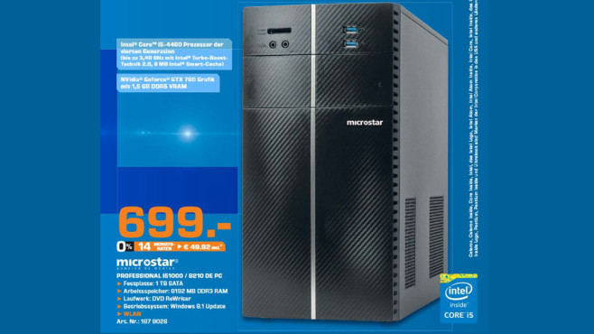 Microstar Professional i51000 ©Saturn
