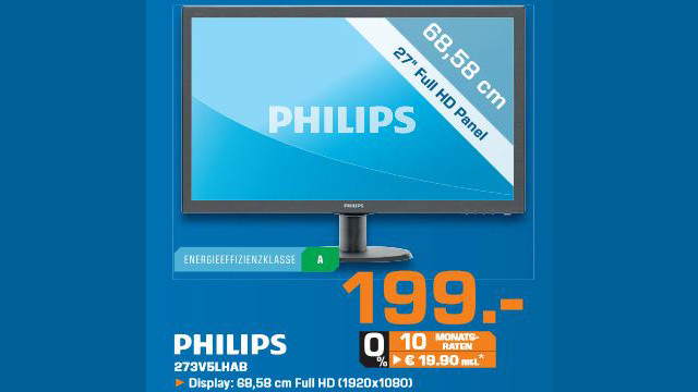 Philips 273V5LHAB © Saturn