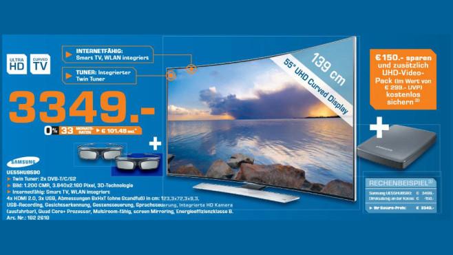Samsung UE55HU8590 ©Saturn