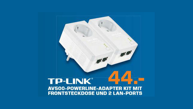 TP-LINK 2-Port Nano Powerline AV500 Ethernet Adapter Starter Kit (TL-PA4020PKIT) © Saturn
