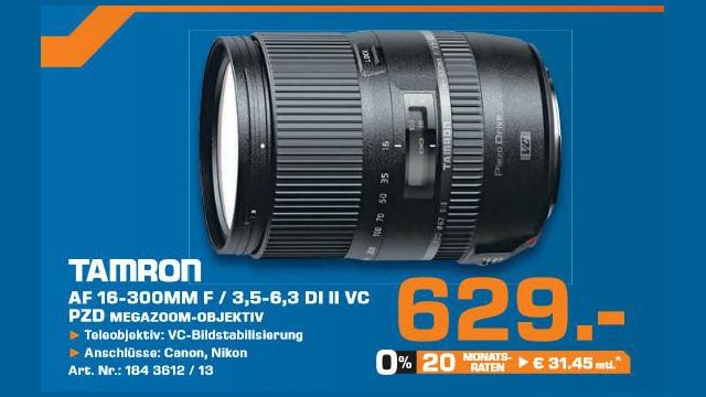 Tamron 16-300mm f3.5-6.3 Di II VC PZD Macro ©Saturn