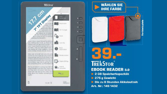 Trekstor eBook Reader 3.0 © Saturn