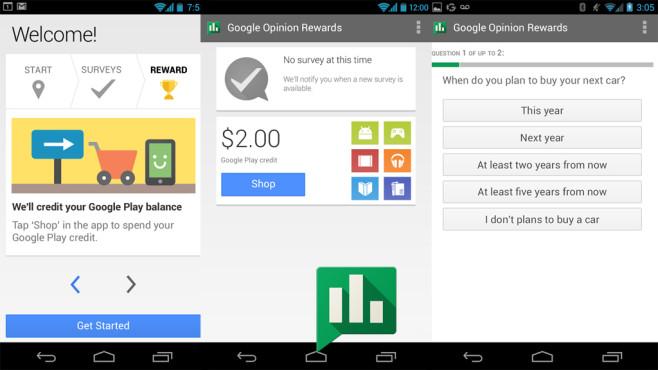 Google Umfrage-App ©Google