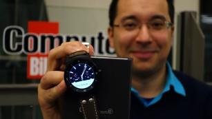 Die LG G Watch R überzeugt im ersten Praxiseindruck ©COMPUTER BILD