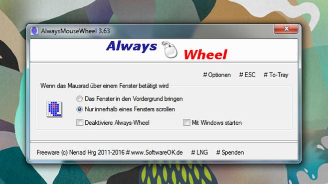 AlwaysMouseWheel: Inaktive Fenster scrollen ©COMPUTER BILD