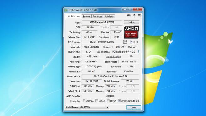 GPU-Z: Infos zur Grafikkarte erhalten ©COMPUTER BILD