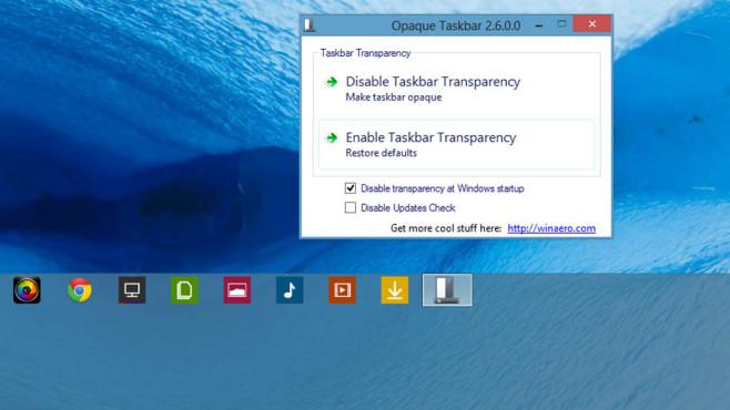 Opaque Taskbar: Taskleiste die Transparenz nehmen ©COMPUTER BILD