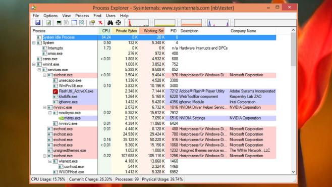 Process Explorer: Laufende Anwendungen verwalten ©COMPUTER BILD