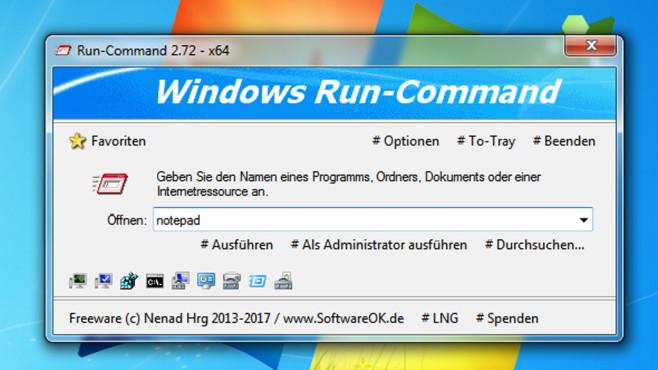 Run-Command: Programme mit Admin-Rechten starten ©COMPUTER BILD