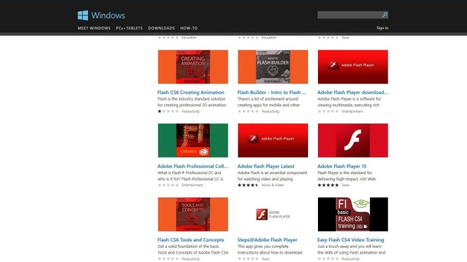 Windows Store Scamware Adobe Flash Player © COMPUTER BILD