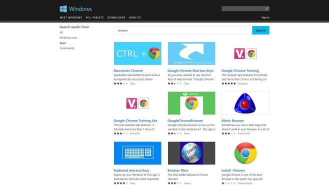 Windows Store Scamware Google Chrome © COMPUTER BILD