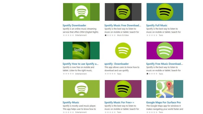 Windows Store Scamware Spotify © COMPUTER BILD